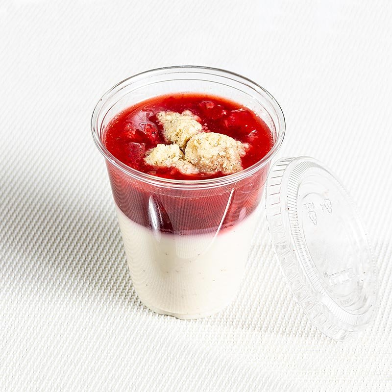 Menüschale Erdbeerragout auf Mascarponecreme (Ostermenü), 100 g