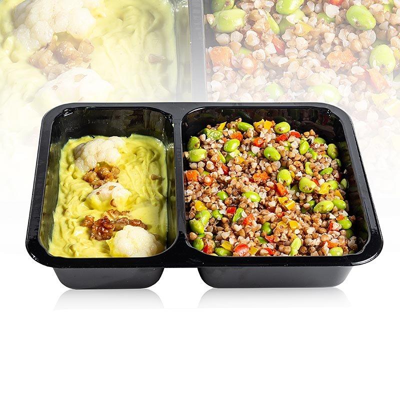 Menüschale Buchweizen-Gemüse-Pfanne mit Curry-Cocossauce (vegan), 470 g