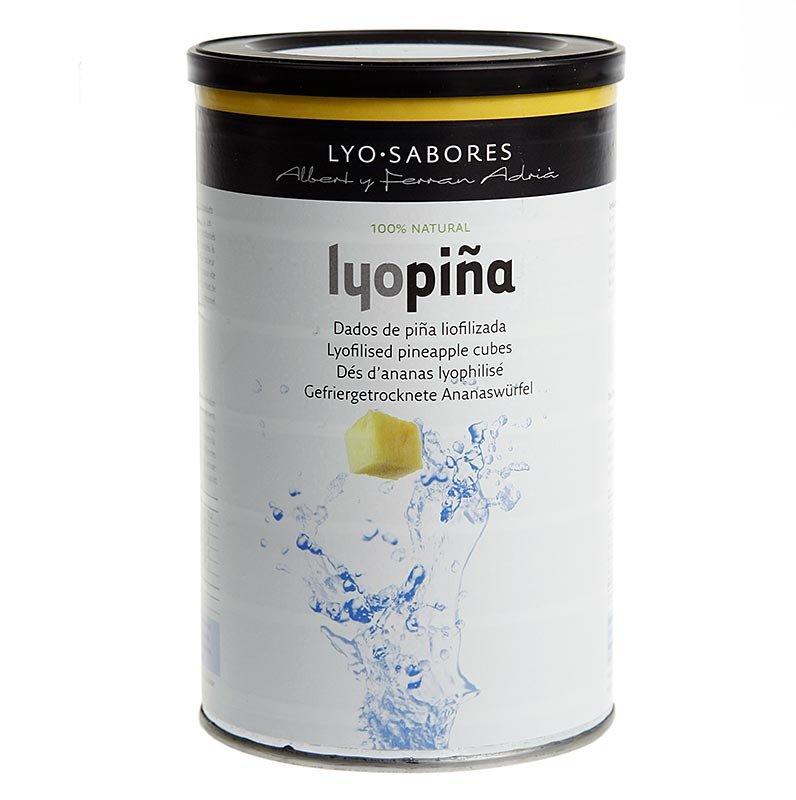 Lyo-Sabores, gefriergetrocknete Ananas-Würfel, 6-9mm, 100 g