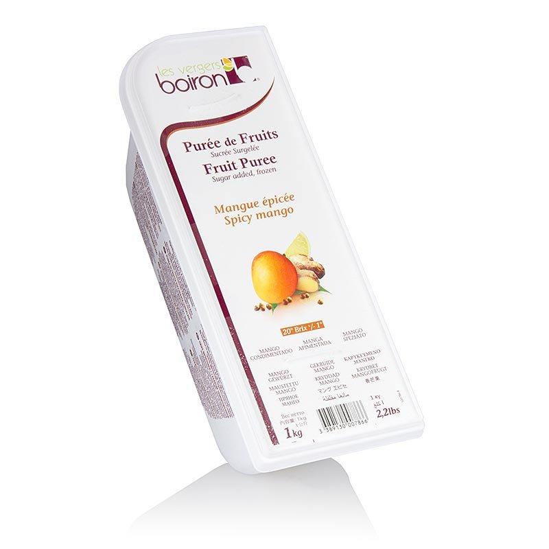 Püree - Mango (Mangue Epicée), mit Ingwer & Koriander, TK, 1 kg