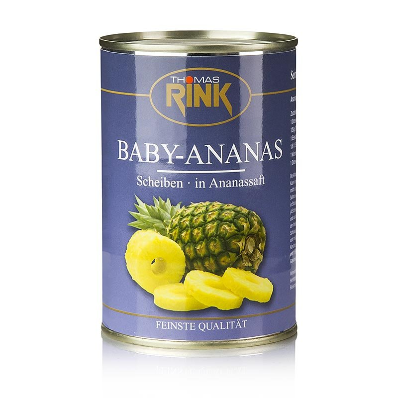 Baby-Ananas-Scheiben, in Ananassaft, 425 g