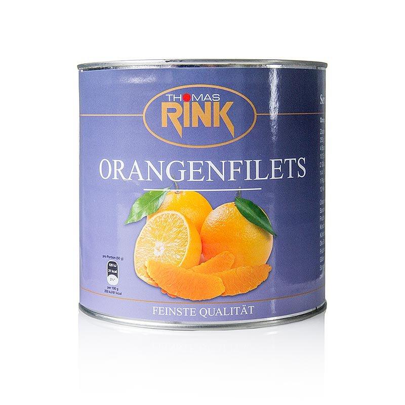 Orangen-Filets - kalibrierte Segmente, leicht gezuckert, 2,65 kg