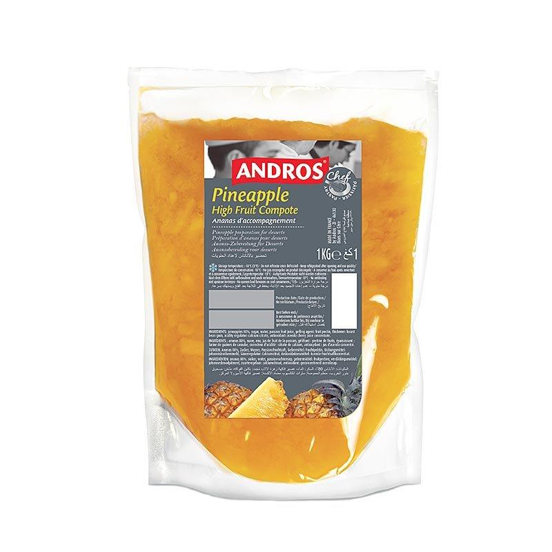 Andros Ananaskompott, mit Stücken, TK, 1 kg