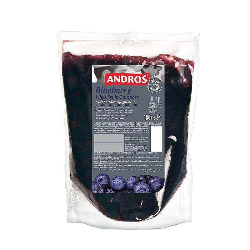 Andros Heidelbeerkompott (Blaubeere), mit Stücken, TK, 1 kg