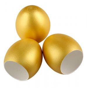 Leere Eierschalen, gold, zum Füllen, 120 Stück