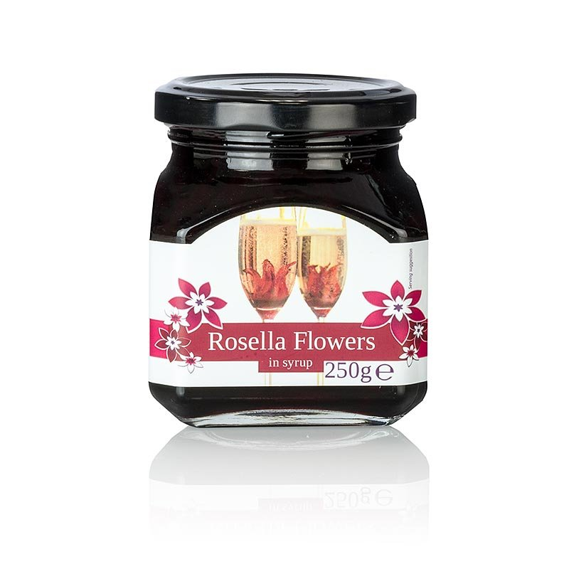 Wild Rosella in Sirup, 10-11 Blütenkelche vom wilden Hibiskus, 250 g