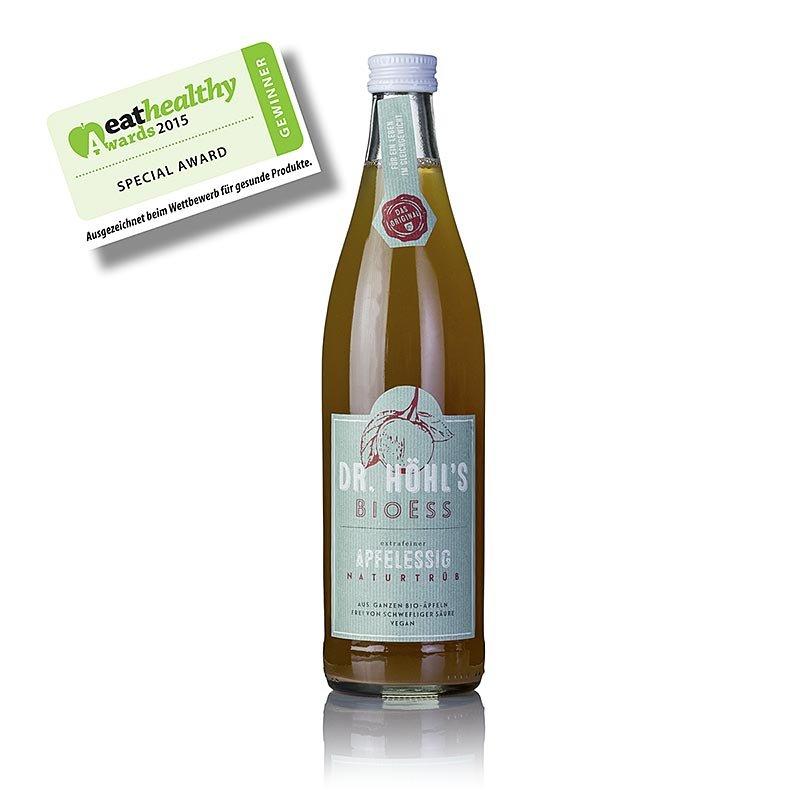 Apfel-Essig, Dr. HÖHL´S BioEss naturtrüb, vegan, 5% Säure, BIO, 500 ml