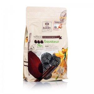 Origine Ecuador, dunkle Schokolade, Callets, 76% Kakao, 1 kg