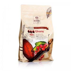 Origine Ghana, Vollmilch Schokolade, Callets, 40% Kakao, 1 kg