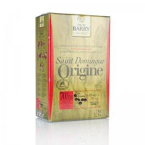 Origine Santo Domingo, dunkle Schokolade, Callets, 70% Kakao, 1 kg