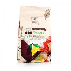 Origine Tanzanie, dunkle Schokolade, Callets, 75% Kakao, 1 kg