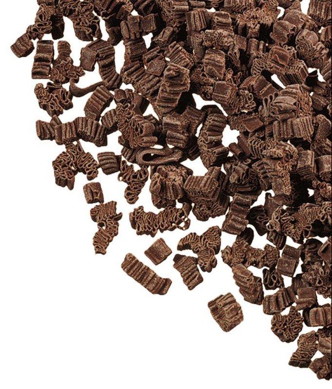 Dekor Borken Splitter, Schokoladenspäne, für Dekorationen, DreiDoppel, 5 kg