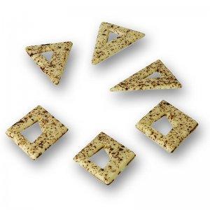 Deko-Aufleger Blizzard - Dreiecke / Rauten, weiße Schokolade, Sprenkeln, 525 g, 262 Stück