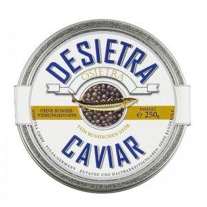 Desietra Osietra Kaviar (gueldenstaedtii), Aquakultur, ohne Konservierungsmittel, 250 g