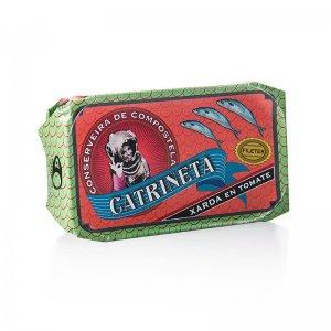 Makrelenfilets (xarda en tomate), ganz, in Tomatensoße, Catrineta, 120 g