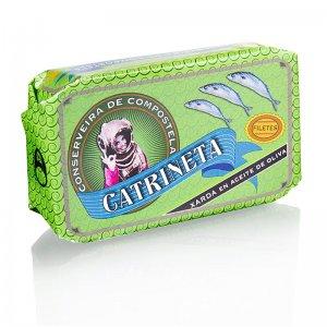 Makrelenfilets, ganz, in Olivenöl, Catrineta, 120 g