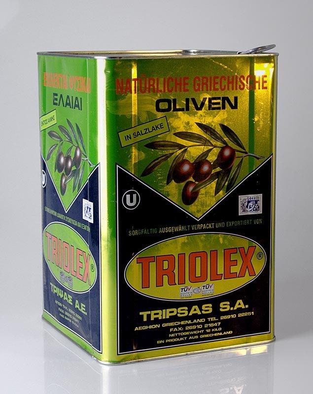 Schwarze Oliven, ohne Kern, Kalamata-Oliven, in Lake, 18,5 kg