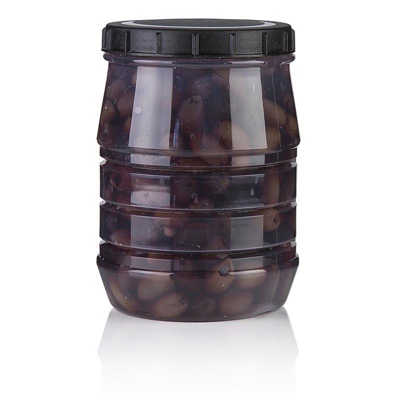 Schwarze Oliven, ohne Kern, Kalamata-Oliven, in Lake, Linos, 1,5 kg