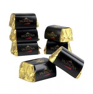 "Valrhona ""Lingot"" Praliné - Gianduja Mini Goldbarren, Knuspernougat, 2 kg, ca. 200 Stück"