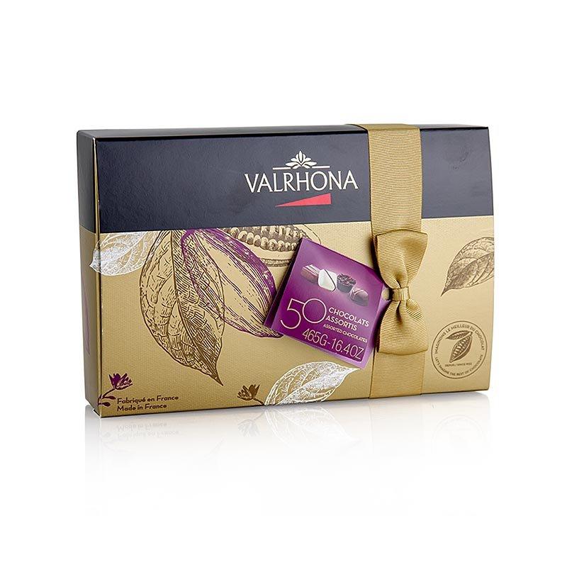 Valrhona Ballotin Sortiment, feine Pralinenmischung, 465 g, 50 Stück