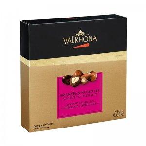 Valrhona Equinoxe Kugeln - Mandeln/Haselnüsse in Bitter- & Vollmilchschokolade, 250 g