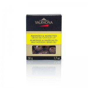 Valrhona Equinoxe Kugeln - Mandeln/Haselnüsse in Milchschokolade, 50 g