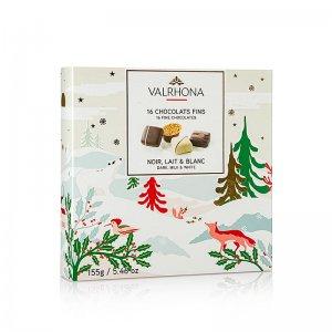 Valrhona Pralinen, 4 Sorten (Chocolats Fin) (SA), 155 g, 16 Stück