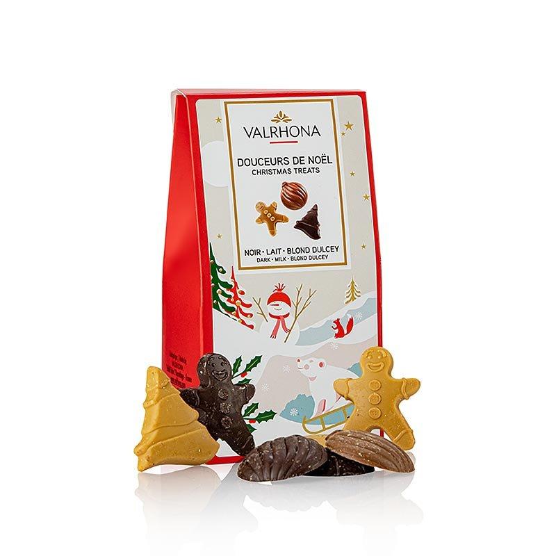 Valrhona Weihnachts Schokoladen Ornamente (Douceurs de Noel), 140 g