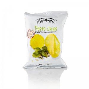 TARTUFLANGHE Pestochips, Kartoffelchips mit Pestogeschmack, 45 g