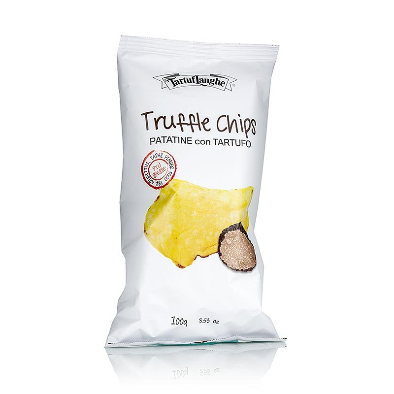 TARTUFLANGHE Trüffel Chips, Kartoffelchips m. Sommertrüffel (tuber aestivum), 100 g