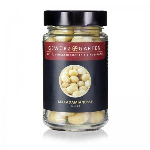 Gewürzgarten Macadamia Nüsse, geschält, ungesalzen, 120 g