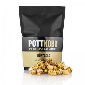 Pottkorn - Hüftgold, Popcorn mit Butterkaramell, Muscovado, Meersalz, 80 g