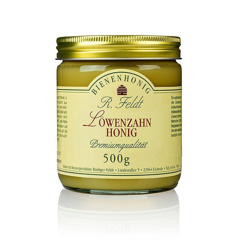 Löwenzahn-Honig, Deutschland, dunkelgelb, cremig, mild & würzig, aromatisch, 500 g