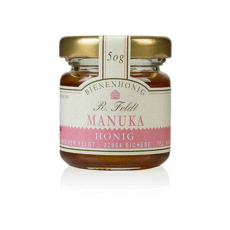 Manuka-Honig (Teebaum), Neuseeland, dunkel, flüssig, kräftig, Portionsglas, 50 g