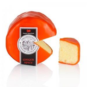 Snowdonia - Ginger Spice, Cheddar Käse mit Ingwer, oranger Wachs, 200 g