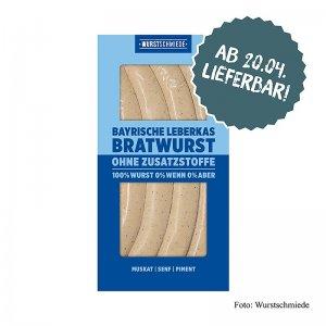 Wurstschmiede - Die Bayerische Leberkas Bratwurst, 260 g, 4 Stück