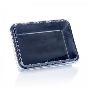 Einweg Take Away Box, inkl. Deckel, schwarz, Einweg, 1000 ml, 1 Stück