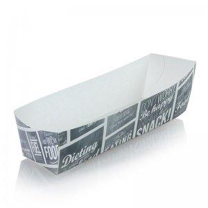 Einweg Tapas Schale, 105 x 33 x 30 mm, Pappe, Kreide Konzept, 400 Stück