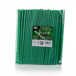 Einweg Trinkhalme aus PLA (Polylactid), grün, zum Knicken, ø 6 mm, 24 cm lang, 150 Stück