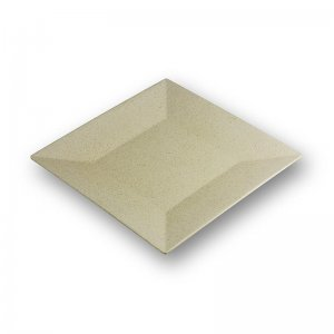 Mehrweg Bambusholzteller, creme, spülmaschinenfest, 23 x 23 cm, 1 Stück