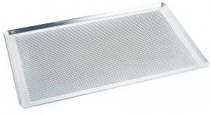 Backblech, perforiert aus ungebeiztem Aluminiumblech, Backofenmaß 60 x 40 cm