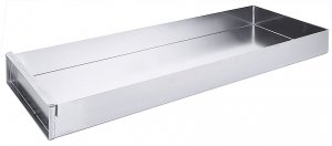 Schnittkuchenblech aus Aluminium, einschließlich Vorsatzschiene, 58 cm x 10 cm x 5 cm