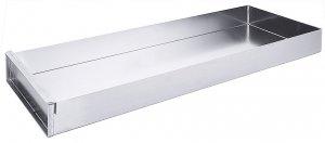 Schnittkuchenblech aus Aluminium, einschließlich Vorsatzschiene, 58 cm x 20 cm x 5 cm