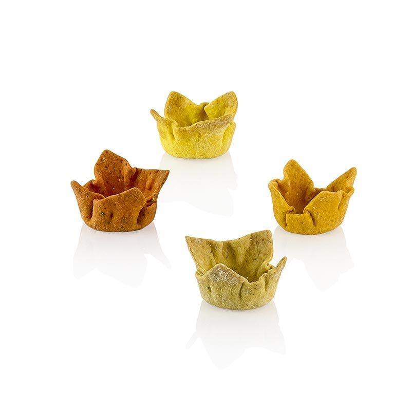 """Cups"" Spicy Tartelettes, Curry-Falafel-Chili-Pfeffer, ø 3cmx1,5cm, Pidy, 384 g, 96 Stück"