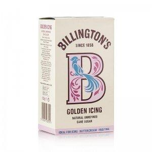 Puderzucker - Golden Icing Sugar, honigfarben, Roh-Rohrzucker, Billington´s, 500 g