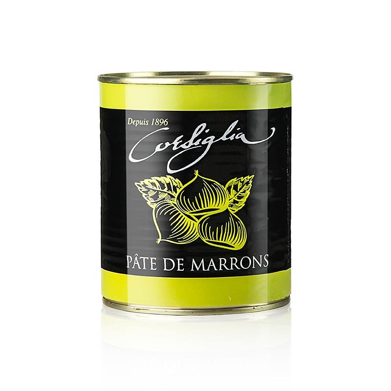 Maronen Paste, mit Vanille, fest & süß (grüne Dose), Corsiglia Facor, 1 kg