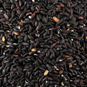Schwarzer Kleb-Reis, nussiger Geschmack, beliebt für Desserts, 400 g