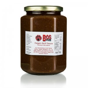 Feigen-Senf-Sauce, eigene Kreation mit roten Feigen, 740 ml